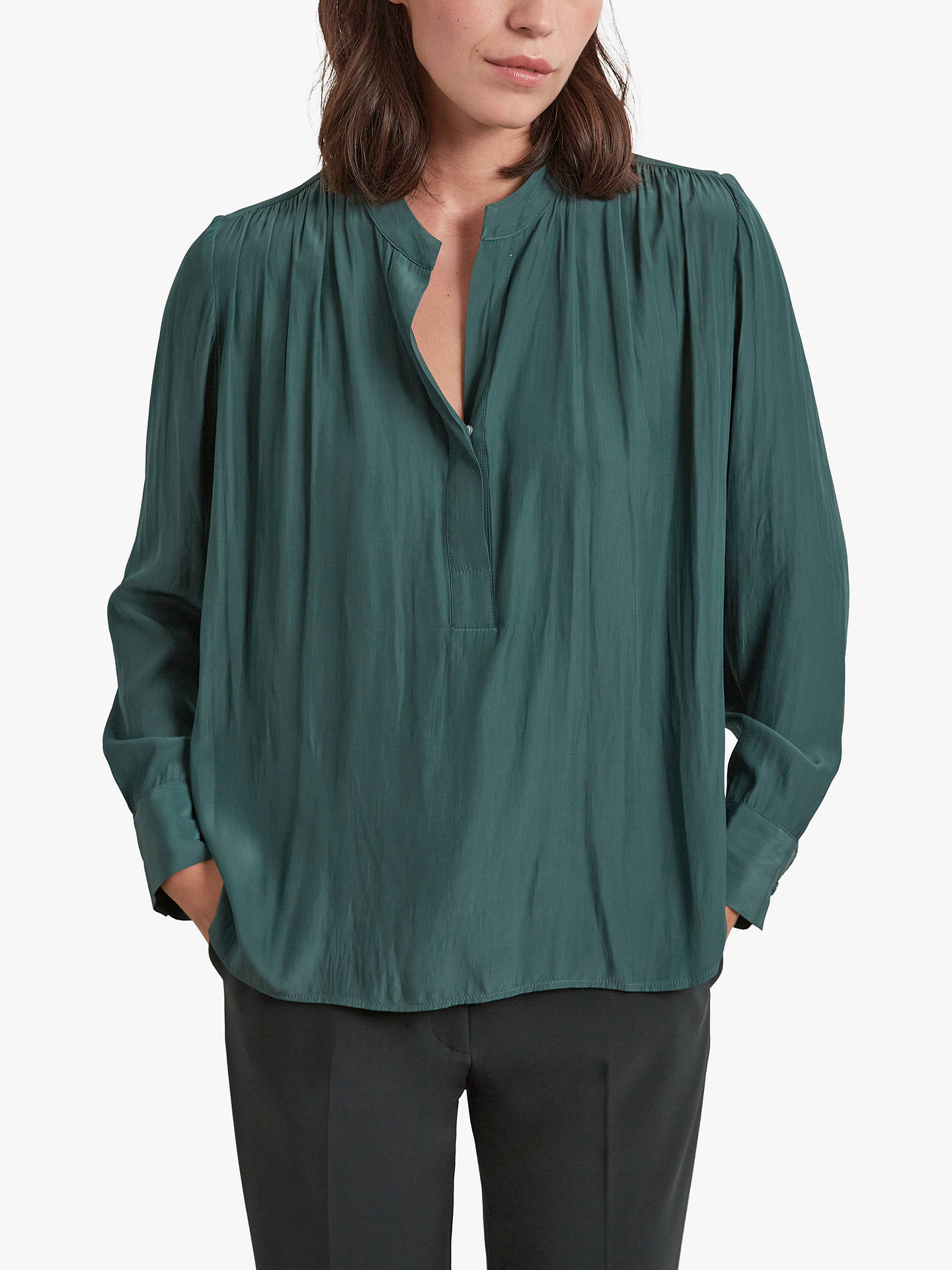 Buy Gerard Darel Armanda Top, Green, 6 Online at johnlewis.com