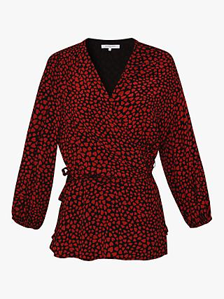 Gerard Darel Adele Heart Blouse, Red