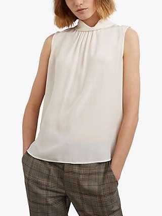 Gerard Darel Aurora Silk Sleeveless Top, Ecru