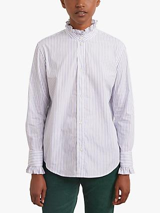 Gerard Darel Ambra Cotton Stripe Shirt, Blue