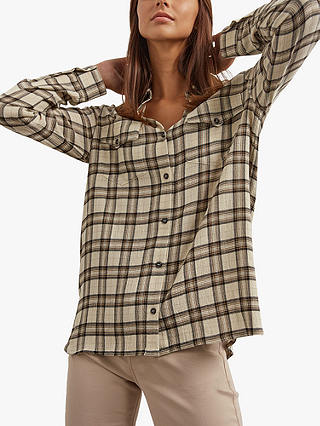 Buy Gerard Darel Amadea Check Shirt, Neutral, 6 Online at johnlewis.com