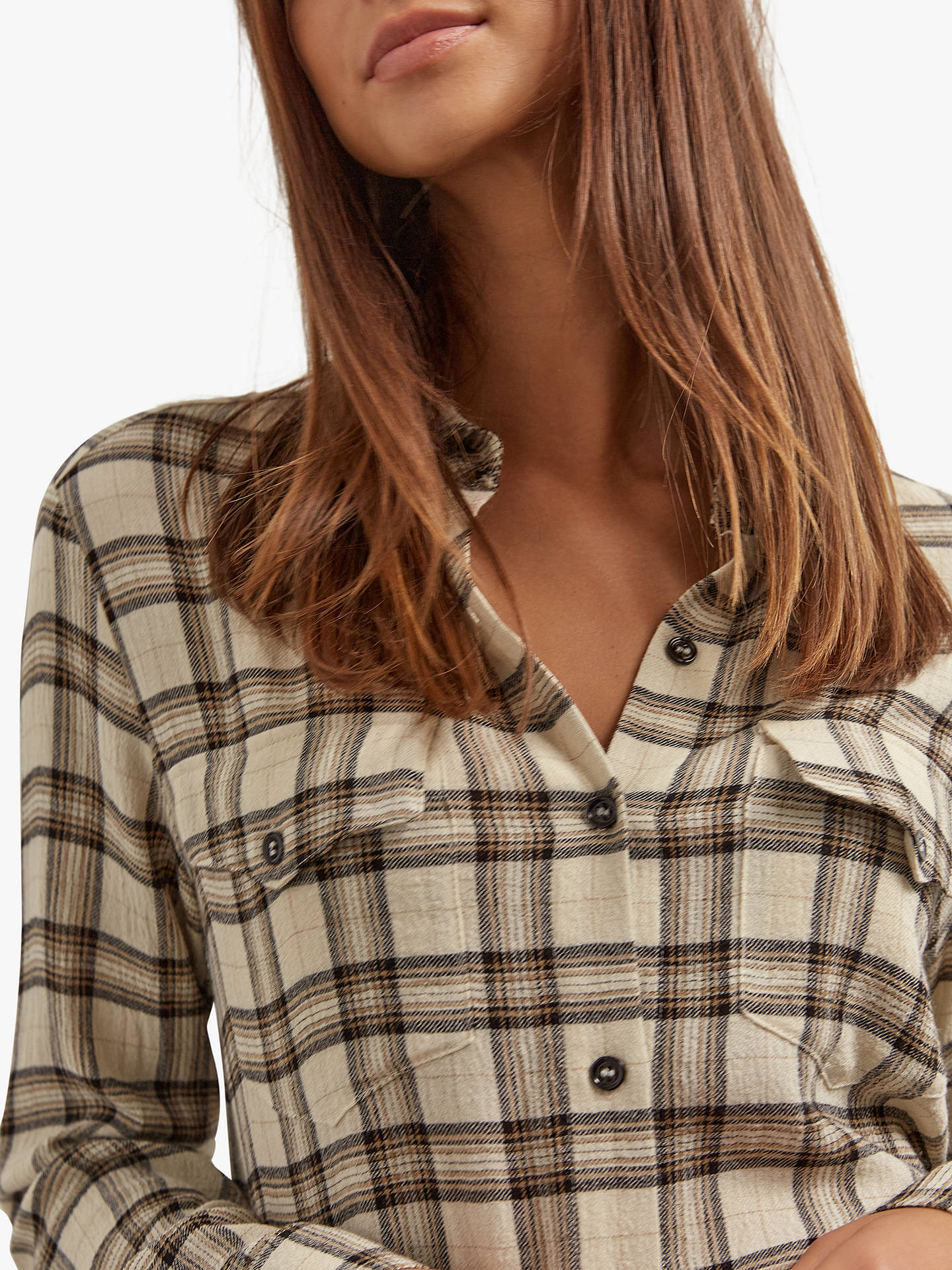 Buy Gerard Darel Amadea Check Shirt, Neutral, 16 Online at johnlewis.com