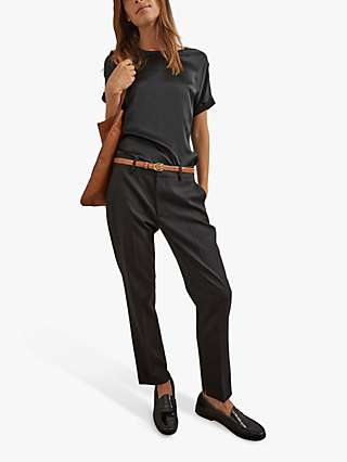 Gerard Darel Lea Wool Mix Tapered Trousers, Black