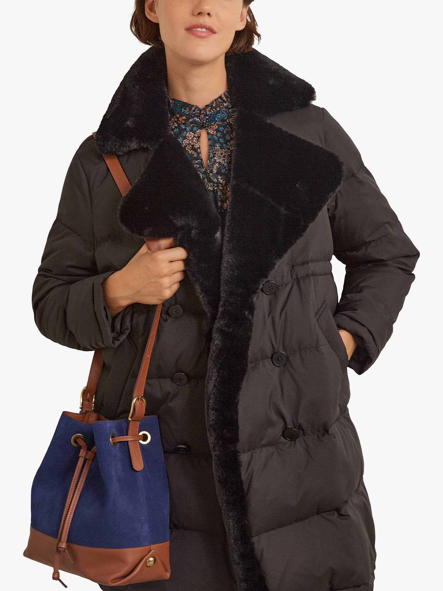 Buy Gerard Darel Stacy Puffer Coat, Black, 8 Online at johnlewis.com