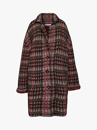 Gerard Darel Syrielle Check Coat, Red