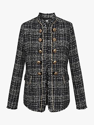 Gerard Darel Basil Tweed Jacket, Navy
