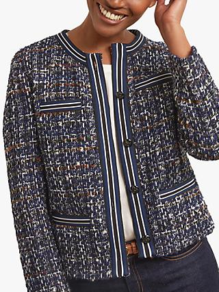 Gerard Darel Barbara Boucle Jacket, Blue/Multi