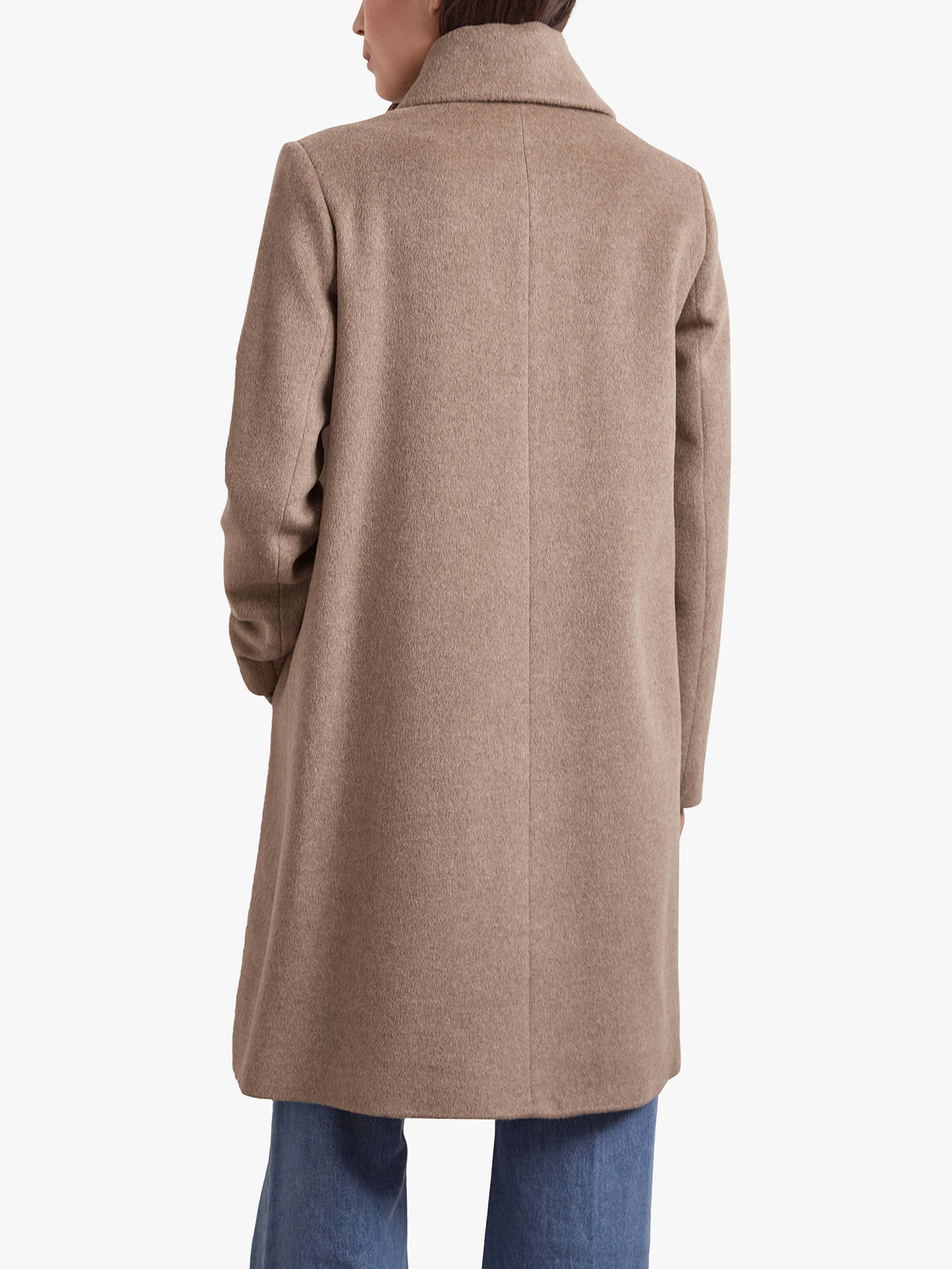 Buy Gerard Darel Serena Double Breasted Wool Coat, Camel, 6 Online at johnlewis.com