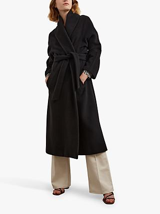 Gerard Darel Swan Robe Coat, Black