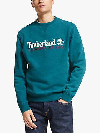 Timberland Cotton Blend Crew Neck Logo Jumper