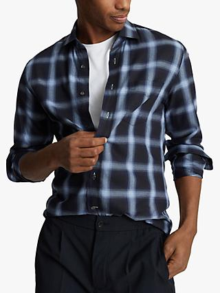 Reiss States Check Shirt, Navy