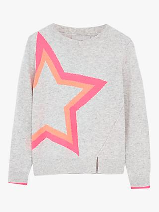 Mintie by Mint Velvet Oversized Star Jumper, Grey/Multi