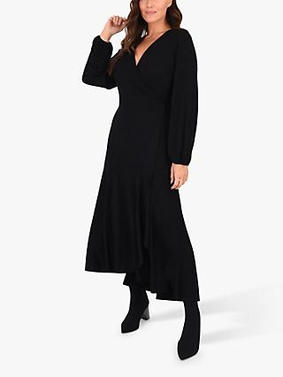 Live Unlimited Curve Wrap Dress, Black