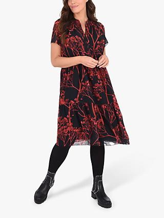 Live Unlimited Curve Floral Print Dress, Multi