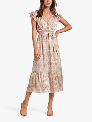 Forever New Marni Tiered Midi Dress, Ornamental Tile