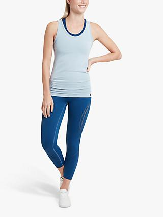 Jilla Active Be in the Moment Bamboo Yoga Vest, Light Blue