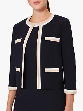Hobbs Ebony Striped Blazer, Navy