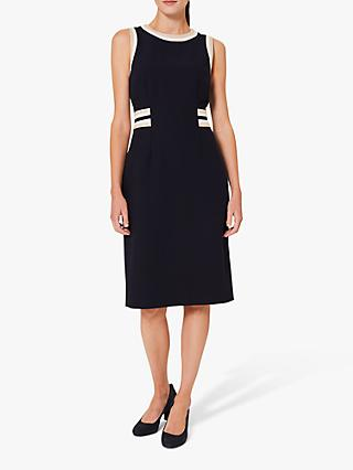 Hobbs Ebony Knee Length Shift Dress, Blue