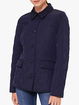 Hobbs Lianne Quilted Coat, Midnight
