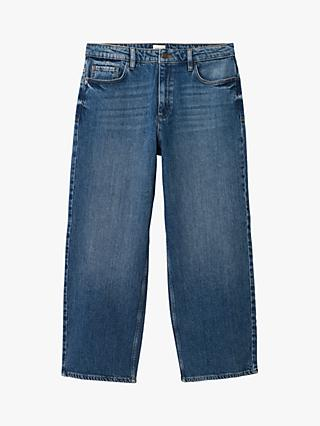 White Stuff Whiststable Denim Wide Leg Jeans, Mid Blue