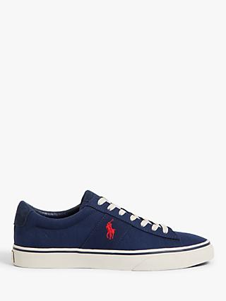 Polo Ralph Lauren Sayer Canvas Trainers, Newport Navy