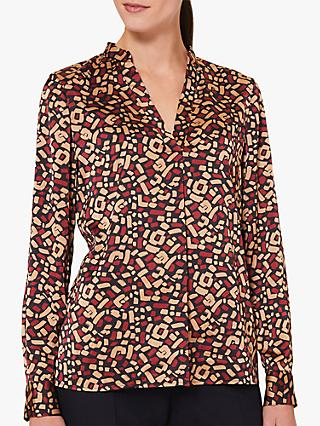 Hobbs Lainey Printed V-Neck Blouse, Multi
