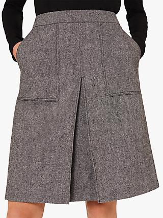 Hobbs Callie Wool Blend Mini Skirt, Grey