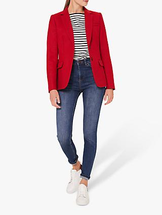 Hobbs Jessica Wool Jacket, Red