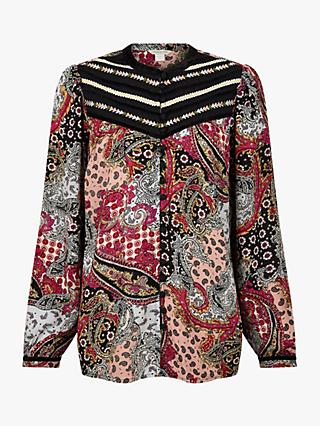 Monsoon Long Sleeve Paisley Print Top