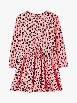 Little Joule Girls' Fiona Leopard Print Dress, Pink