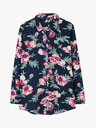 Joules Elvina Button Front Shirt, Navy Floral