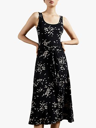 Ted Baker Philina Floral Print Midi Dress, Black