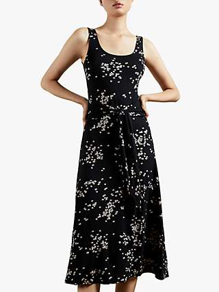 Ted Baker Philina Floral Print Midi Dress, Black