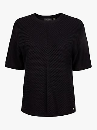 Ted Baker Roycie Short Sleeved Sweater, Black