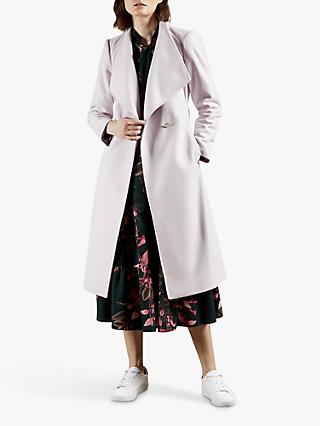 Ted Baker Rose Belted Wool Blend Coat, Pink