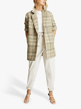 Reiss Skylar Check Coat, Neutral
