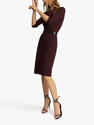 Reiss Luisa Tailored Wrap Dress, Berry