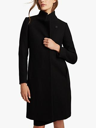 Reiss Marcie Wool Blend Mid Length Coat