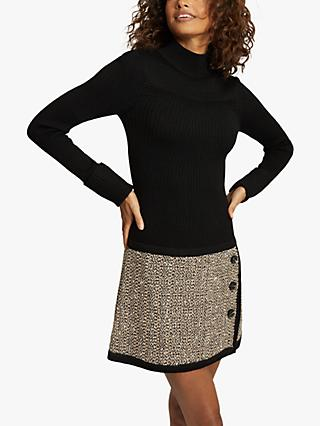 Reiss Kelly Knitted Dress, Black