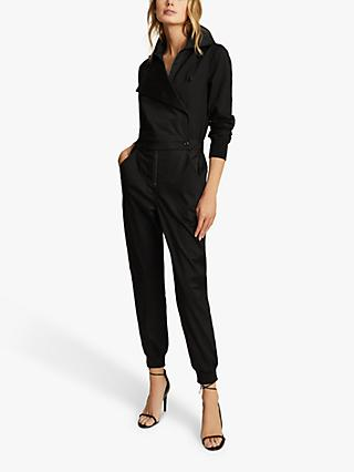 Reiss Ellis Utility Jumpsuit, Black