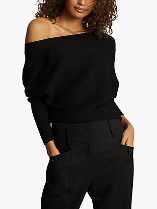 Reiss Lorna Draped One Shoulder Blouse