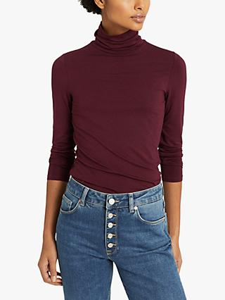 Reiss Charlie Jersey Roll Neck Top