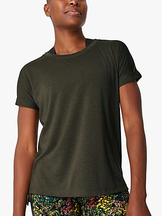 Sweaty Betty Boyfriend Workout T-Shirt, Olive