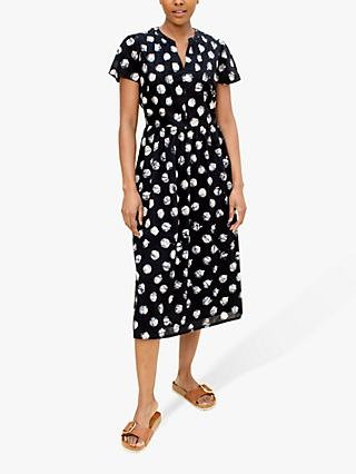 East Kali Batik Abstract Midi Dress, Black