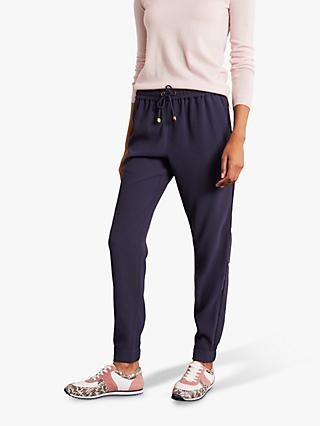 Boden Clovelly Drawstring Trousers, Navy