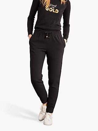 Boden Clovelly Satin Joggers, Black