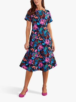 Boden Cynthia Floral Midi Dress, Chelsea Bloom