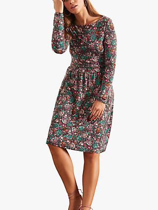 Boden Abigail Floral Print Jersey Dress, Multi