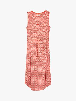 White Stuff Avery Geo Floral Print Dress, Coral