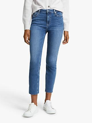 Paige Cindy High Rise Straight Leg Jeans, Blue